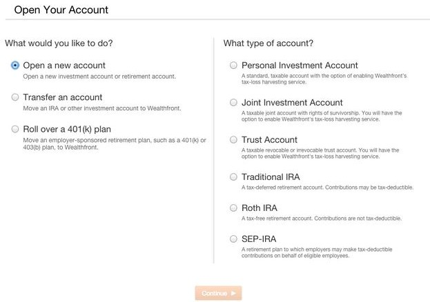 Wealthing Account Funding